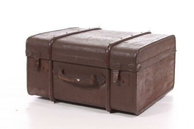 Beautiful Age Suitcase with Wooden Fittings Travel Cases Old Vintage Decoration