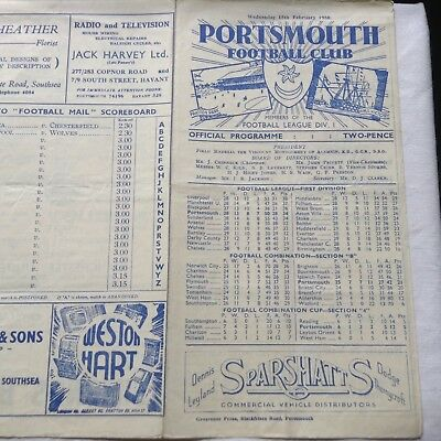 MANCHESTER UNITED [MUFC];- PORTSMOUTH v MANCHESTER UNITED 1949-50 FAC 5th Round.