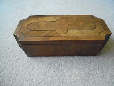 Walnut Veneer Jewellery Box.