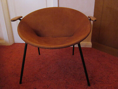 "Hans Olsen ""Balloon""  Vintage Wildleder Sessel Cocktail Lounge 60"