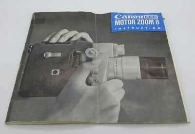 Original CANON EEE Motor Zoom 8mm Camera Instruction Manual (p.36)