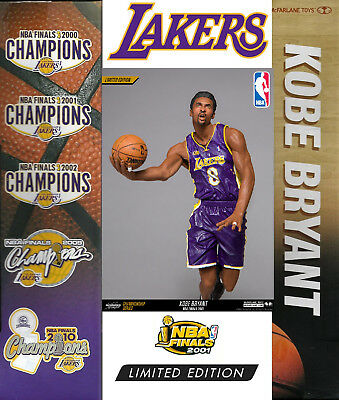 Kobe Bryant 2000 NBA Finals Lakers McFarlane Championship Series Figure 3000 fig