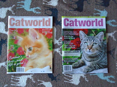 **2  X Cat Magazines**  - 'catworld' 2 Issues - August 2017 & September 2017