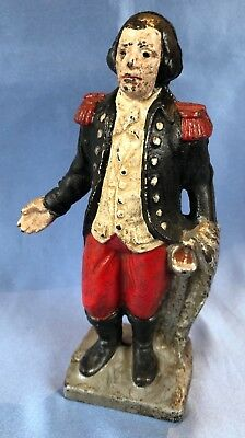 Antique Late 19th Century Cast Iron George Washington Moneybox / Piggy Bank