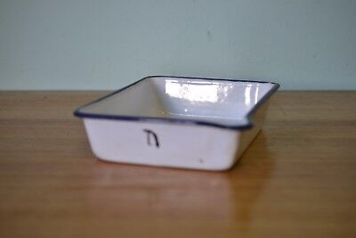 Vintage small enamelled photographic developing tray