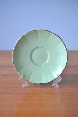 Vintage fine china saucer / plate mint green colour