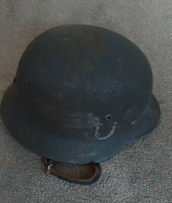 WWII German M40 Normandy Helmet battle of Normandy