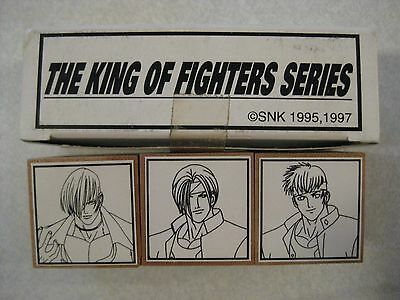 The King Of Fighters Series Stamp Pad Set Of 3 New In Box Japan 1997