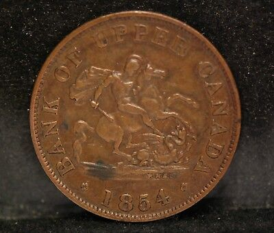 Canada - Bank of Upper Canada, 1854 Crosslet 4, Fine, tougher type,  NR       gB