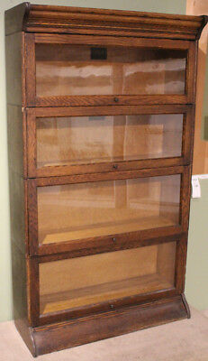 Antique Early 20th C BARRISTER BOOKCASE CAMDEN CABINET CO HALE STACK... Lot 8054