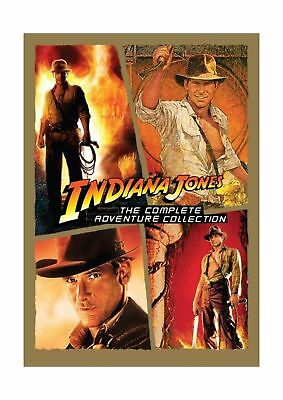 Indiana Jones The Complete Adventure Collection DVD All Movies Box-FREE EXP SHIP