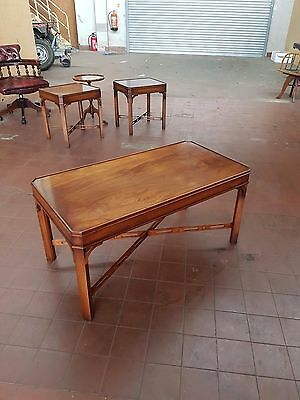Bevan Funnell Reprodux Furniture Flamed Mahogany Coffee/lounge/telephone Table