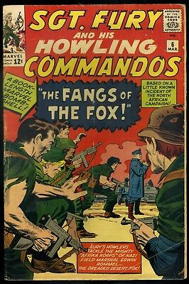 Sgt Fury and His Howling Commando #6 VG
