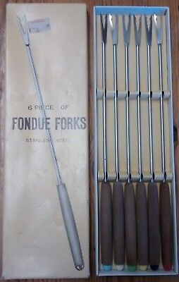 Vintage Fondue Forks - 6 piece stainless steel set