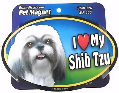 I LOVE MY SHIH TZU DOG Magnet Gifts, Cars, Trucks. Lockers, Refrigerator
