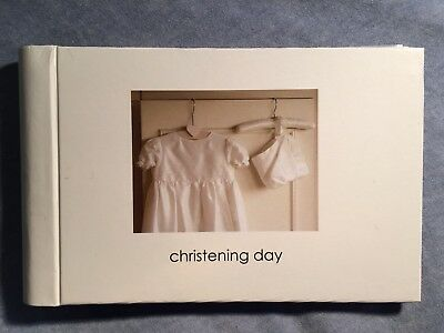 "Christening Day Photo Album - Cream ""Kitted Out English Gifts Ltd"" - New"