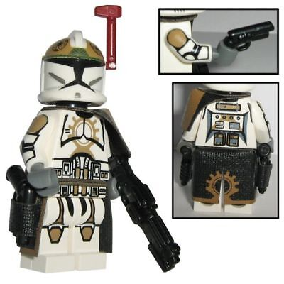87th Legion Clone Offizier Sergant Figur gef. aus Lego Star Wars & custom Teilen