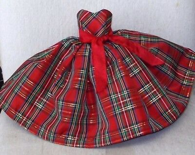 "20""  CISSY.  Miss REVLON   FASHION  Clothes  HOLIDAY  PLAID TAFFETA  DRESS"