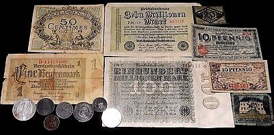 Europe WW1  era Emergency currency and coins
