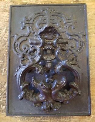 Large Cast Iron Antique Style Rustic Dragon Head Door Knocker 3lbs 9ozs