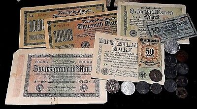 Europe WW1  era Emergency and Inflationery currency and coins