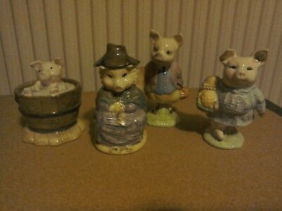 "Beswick Beatrix Potter ""Pigs"" four Figurines"
