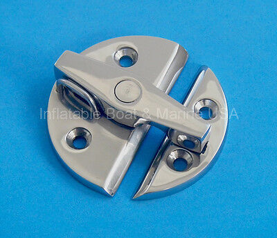 Boat Door Cabinet Hatch Turn Button Catch Latch-Large- Marine Stainless steel