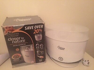 Used a few times Tommee tippee electric steriliser kit, in excellent condition.