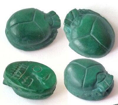 Egyptian ancient scarab stone malachite gem intaglio