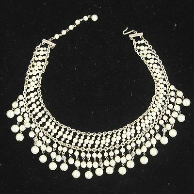 Vintage Faux Pearl Choker Necklace Costume Jewelry Marked Japan