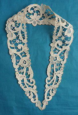 Antique hand made  Venetian needle lace collar
