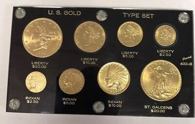 Pre 1933 Us Gold 8 Piece Mint Type Set-Very Attractive Specimens-Free Shipping