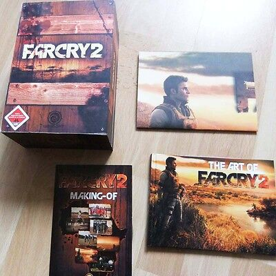 Farcry 2 Holz Kiste Collector's Edition mit Artbook, Making of, Poster Far Cry