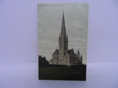Old postcard - The Cathedral Letterkenny - Irish Donegal old postcard - Valentin