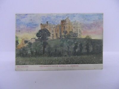 Old Irish postcard - The Bishop's castle - Raphoe - Donegal - Colour card
