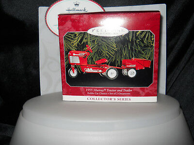 1955 Murray Tractor and Trailer,Hallmark Kiddie Car Classics Ornament,QX6376