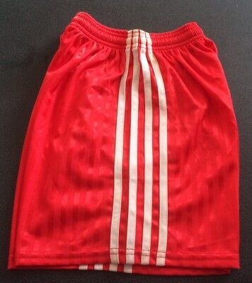 """Vintage Football Shorts, Red with White Stripes, size 32"""" , 9/10yrs"""