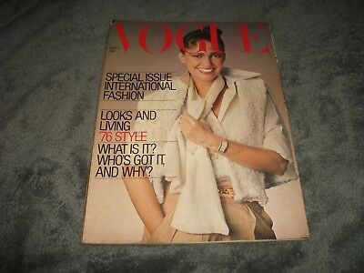 VOGUE MAGAZINE September 1976 Norman Parkinson ZANDRA RHODES Dior SAINT LAURENT