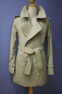 SUPERB Mens BURBERRY Double Breasted Short TRENCH Coat Mac Green Size 36
