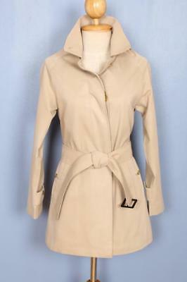 Womens BURBERRY Single Breasted Short TRENCH Coat Mac Beige 4/6