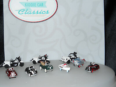 LOT OF 9 Hallmark Ornaments Kiddie Car Classics Miniatures,Auburn,Airflow,MORE