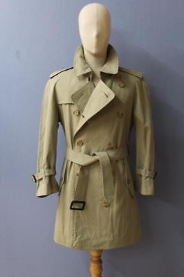 Mens BURBERRY Double Breasted Short TRENCH Coat Mac Green Size 38/40