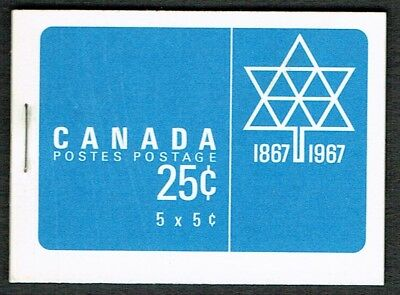 Canada Complete Booklet BK 52e (Cameo stamps w/ Centennial Cover)