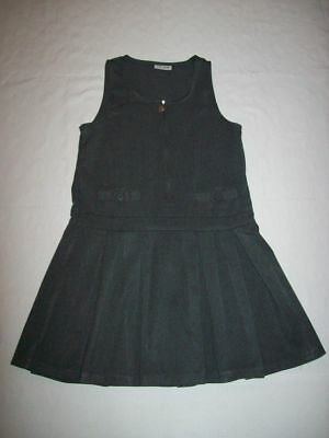 """Girls Grey Pinafore Dress - """"NEXT"""" (Size = Age 8 Years / Height 128cm)"""