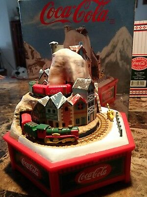 """COCA COLA (1992) Alpine Express Deluxe Action Musical Box Plays """"White C"""