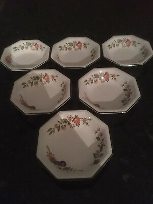 "Johnson Fresh Fruit 6 No Fruit Saucers 5.25"" Diameter"