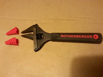 Rothenberger 34Mm Wide Jaw Wrench With Jaw Protectors 70459