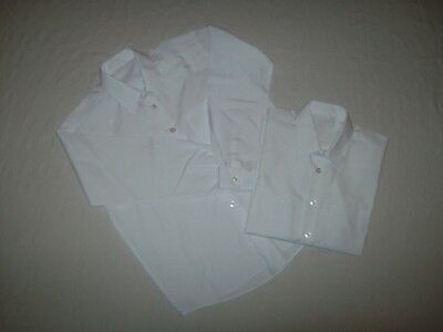 2 x Boys White Long Sleeved School Shirts (Size = Age 10 - 11 Years)