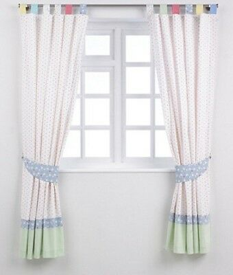 Mothercare Little Bird Jools Oliver Curtains with INTERLINING and Tie-backs