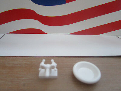 Lego Harry Potter White Sink & Faucet From Set 4712 Troll On The Loose